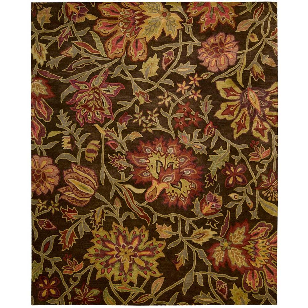 nourison jaipur chocolate 5 ft 6 in x 8 ft 6 in area rug 112873 the home depot. Black Bedroom Furniture Sets. Home Design Ideas