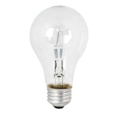 60-Watt Equivalent Warm White (3000K) A19 Dimmable Energy Saver Clear Halogen Light Bulb (48-Pack)