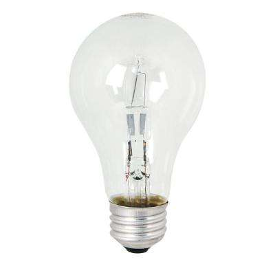 43-Watt Equivalent Warm White (3000K) A19 Dimmable Energy Saver Halogen Clear Light Bulb (48-Pack)