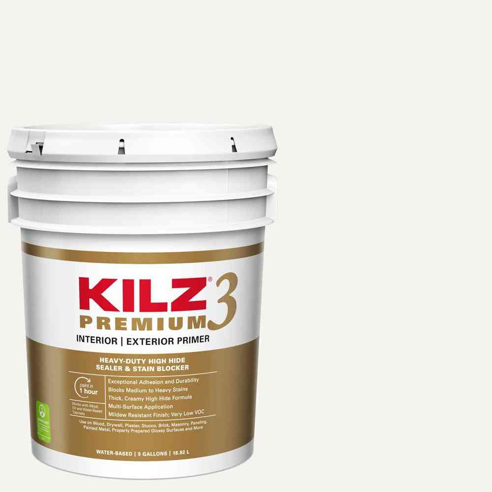 KILZ PREMIUM 5 Gal. White Interior/Exterior Primer, Heavy-Duty - Sale: $99.00 USD