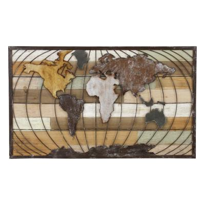 Marco Metal Brown World Map Wall Decor