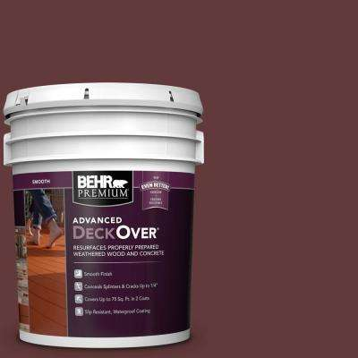 5 gal. #PFC-04 Tile Red Smooth Solid Color Exterior Wood and Concrete Coating