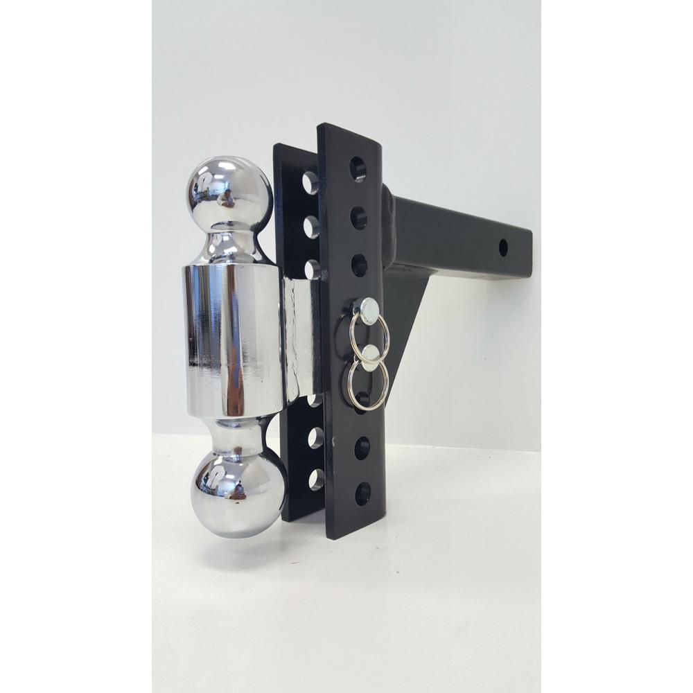 Black/Chrome Adjust Dual Ball Mount