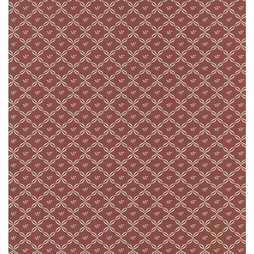 Brewster 8 in. W x 10 in. H Ribbon Trellis Wallpaper Sample