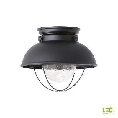 Sebring Black Integrated LED Outdoor Flush Mount