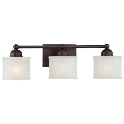 1730 Series 3-Light Lathan Bronze Bath Light