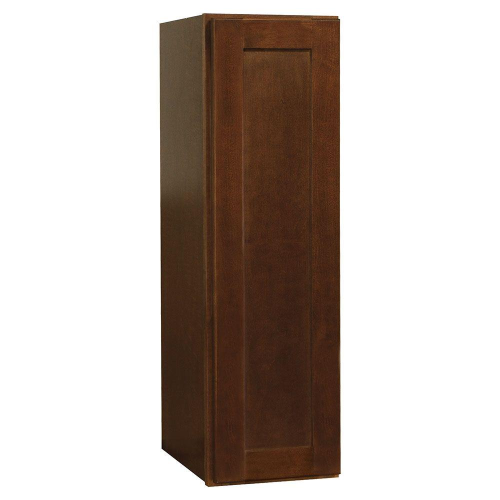 Shaker Assembled 9x30x12 in. Wall Kitchen Cabinet in Cognac