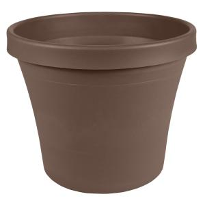Terra 6 in. Chocolate Plastic Planter