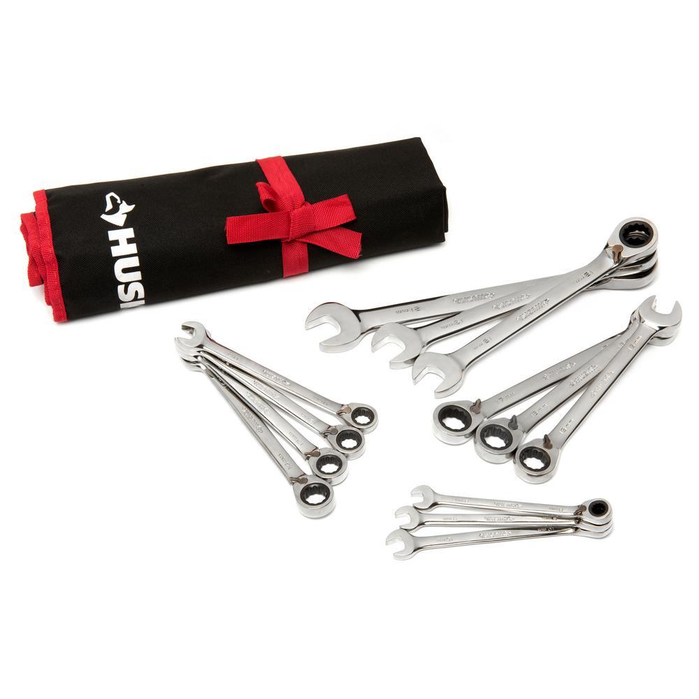 Husky Master Metric Reversible Ratcheting Wrench Set (13-Piece)