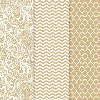 12 in. x 16 in. Decou-Page Paper Gold Trends (3-Pack)