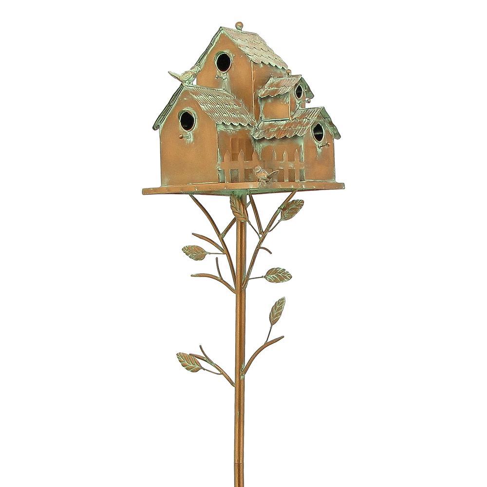 Doylestown Copper Multi-Bird Condominium Birdhouse Stake