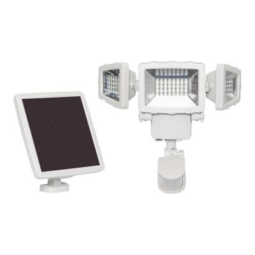 125-Watt 130-Degree White Motion Activated Outdoor Integrated LED Solar Flood Light
