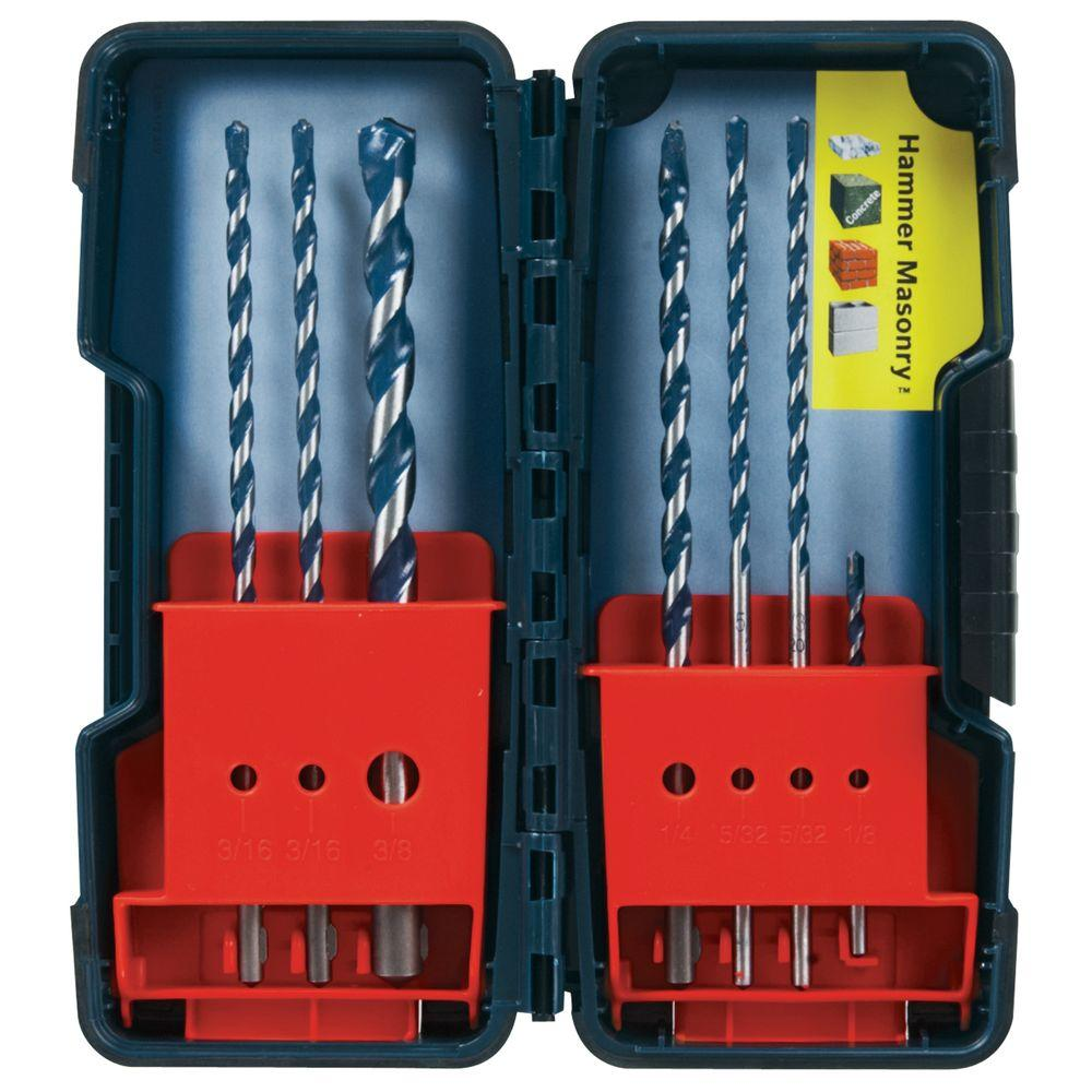 Assortment Pack of BlueGranite Turbo Carbide Hammer Drill Bits (7-Piece)