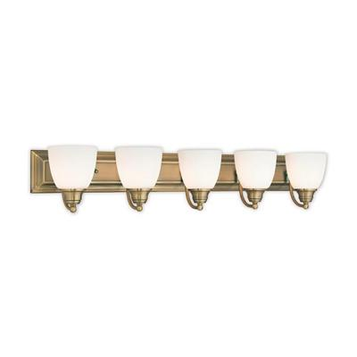 Springfield 5-Light Antique Brass Bath Vanity