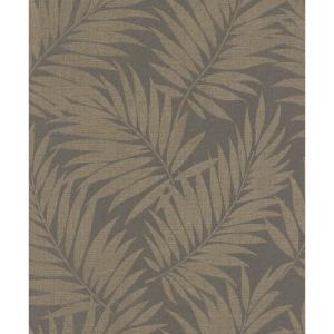 Edomina Dark Brown Palm Vinyl Strippable Roll (Covers 55 sq. ft.)