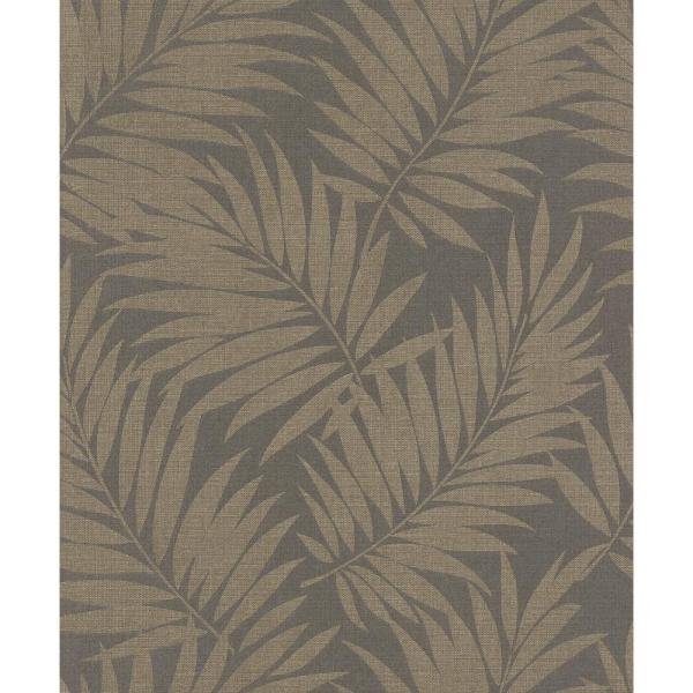Edomina Dark Brown Palm Wallpaper