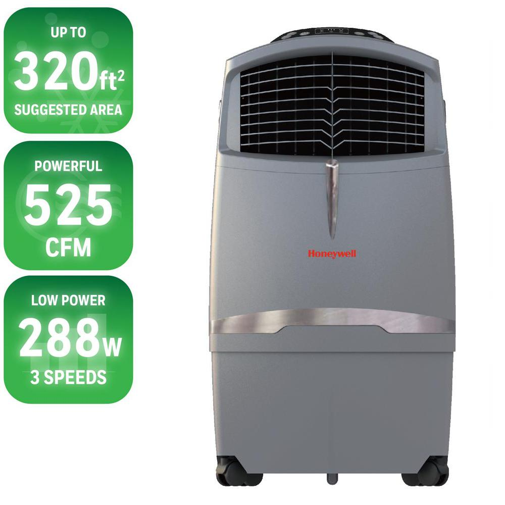 525 CFM 4-Speed Indoor/Outdoor Portable Evaporative Cooler with Remote Control