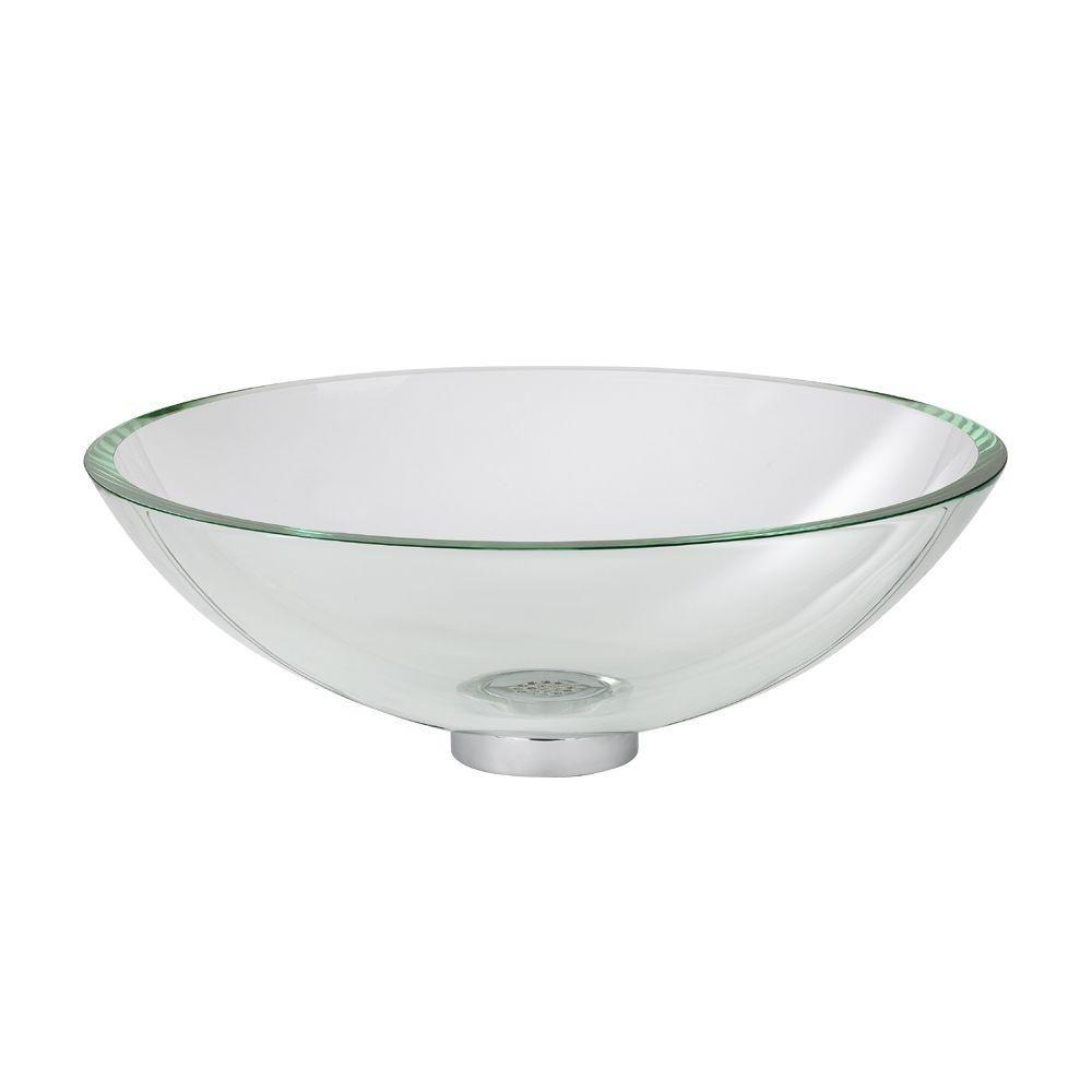 American Standard Dorian Vessel Sink In Clear Glass