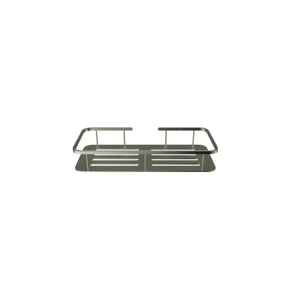 American Standard Passage Rectangular Shower Shelf in Brushed Metal