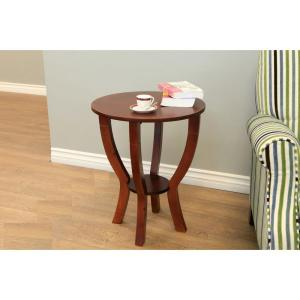 MegaHome Lewis Walnut End Table by MegaHome