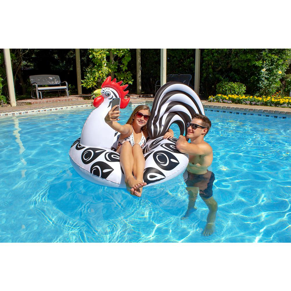 Poolmaster 48 in. Rooster Party Float Swimming Pool Tube
