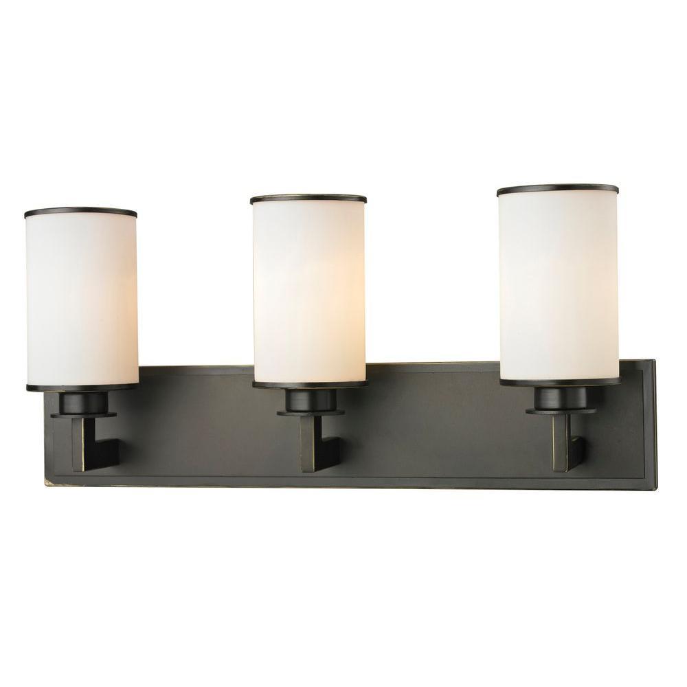 Lacy 3-Light Olde Bronze Bath Vanity Light