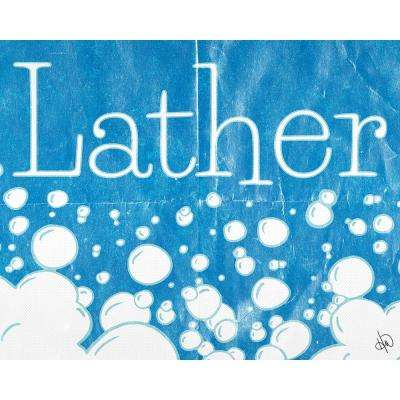 """11 in. x 14 in. """"Lather Delta"""" Planked Wood Wall Art Print"""