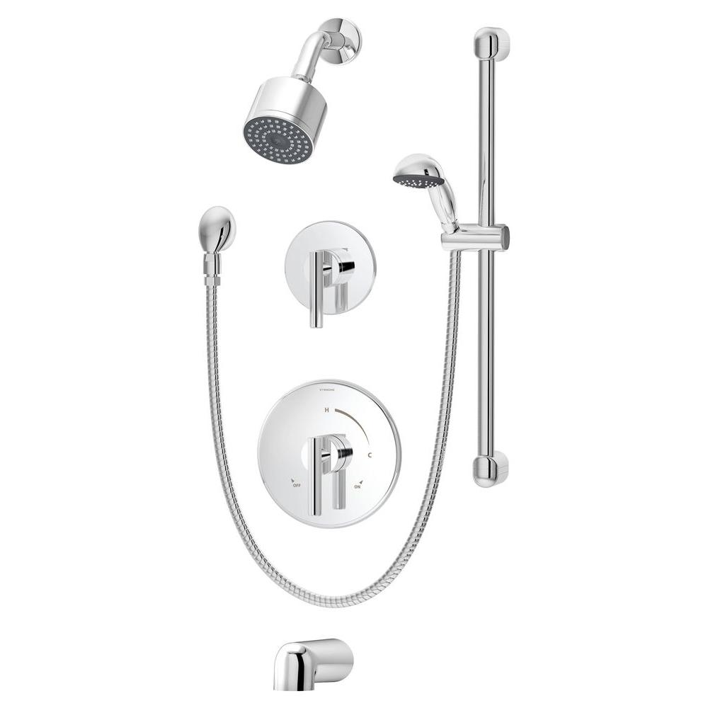 Symmons Dia 2-Handle Tub and Shower Faucet Trim Kit with Hand Shower ...