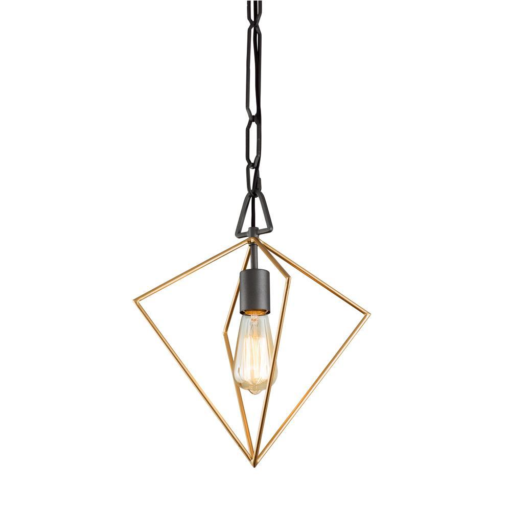 Metropolis 1-Light Antique Gold/Rustic Bronze Pendant