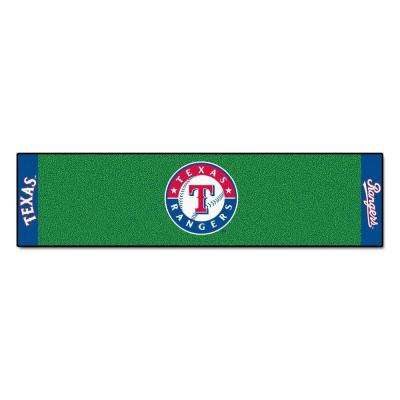 MLB Texas Rangers 1 ft. 6 in. x 6 ft. Indoor 1-Hole Golf Practice Putting Green