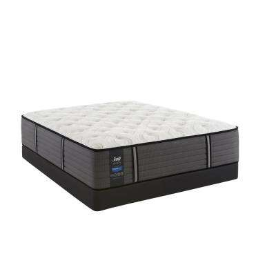 Response Premium 14.5 in. California King Cushion Firm Tight Top Mattress Set with 5 in. Low Profile Foundation