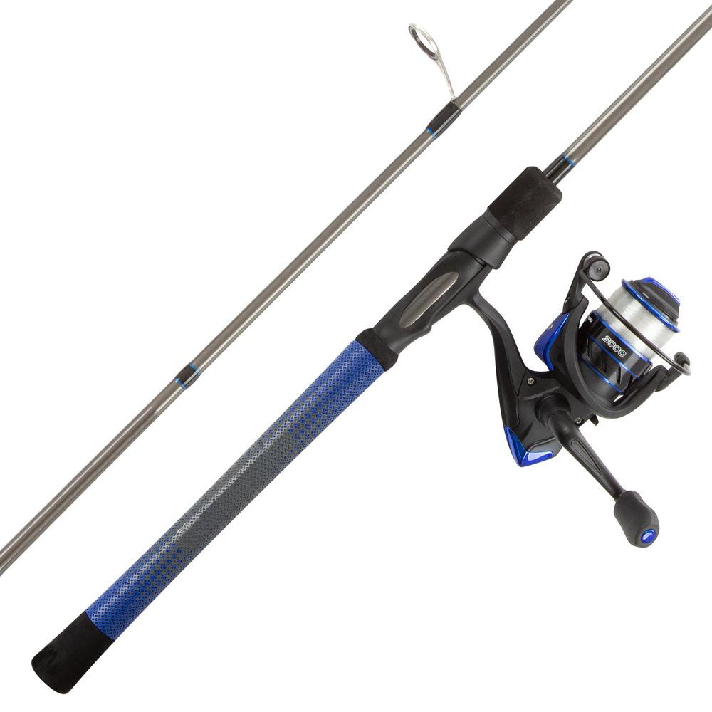 Blue Carbon Fiber Fishing Rod and Reel Combo - Portable 3-Piece