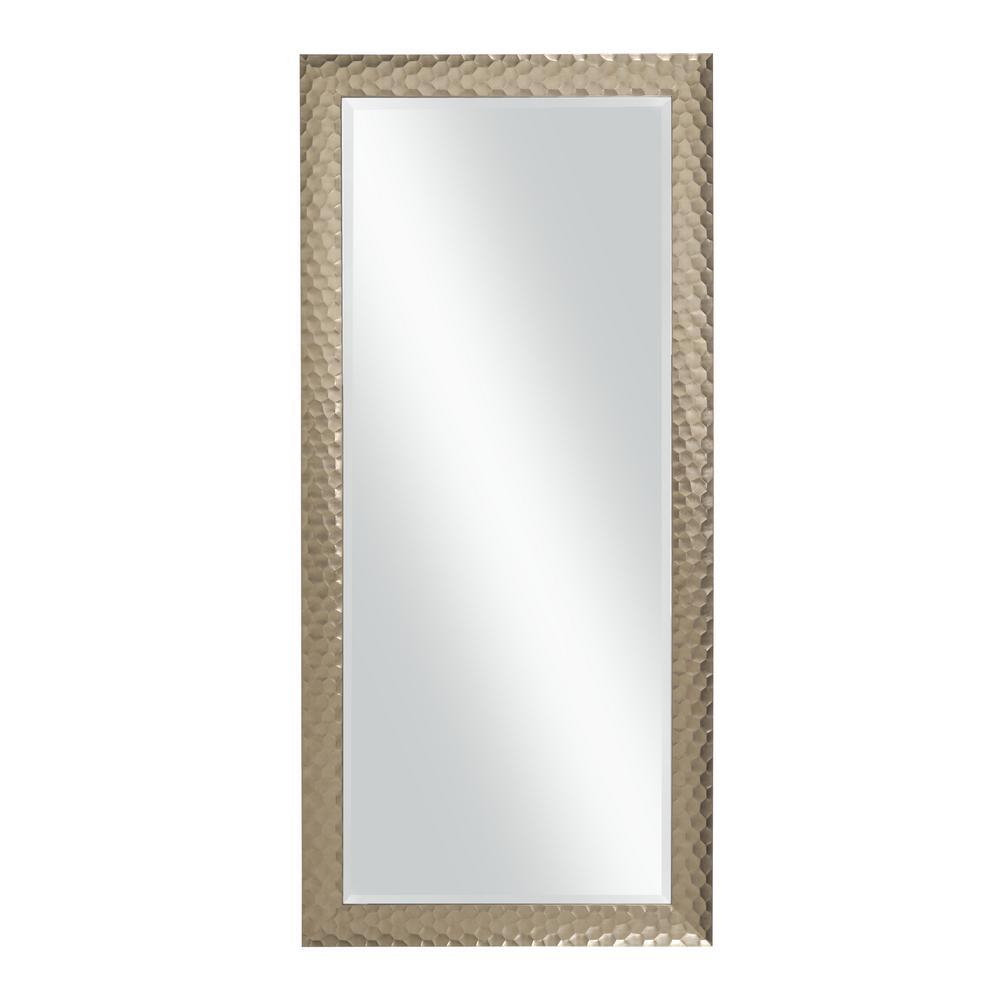 Glam Full Length Leaner Mirror, Metallic Bronze