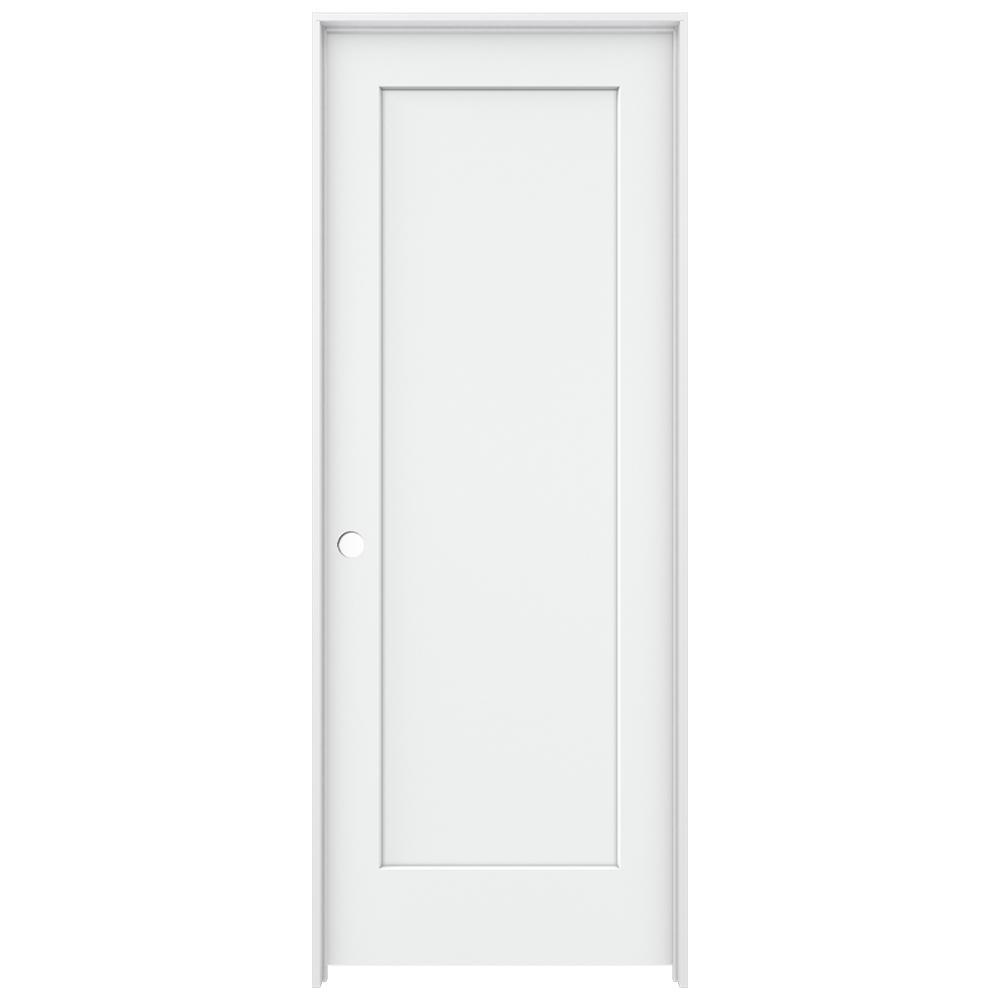 Jeld Wen 32 In X 80 In Madison White Painted Right Hand Smooth Solid Core Molded Composite Mdf
