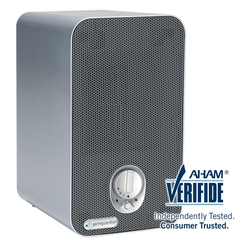 GermGuardian 3-in-1 HEPA Air Purifier System with UV Sanitizer, and Odor Reduction, 11 in. Table Top Tower