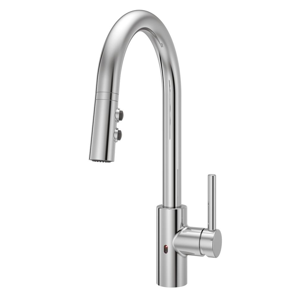 Pfister Stellen Single-Handle Electronic Pull-Down Sprayer Kitchen Faucet  with React Technology in Polished Chrome