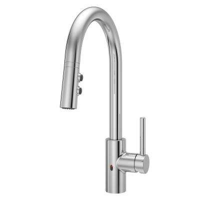 Stellen Single-Handle Electronic Pull-Down Sprayer Kitchen Faucet with React Technology in Polished Chrome