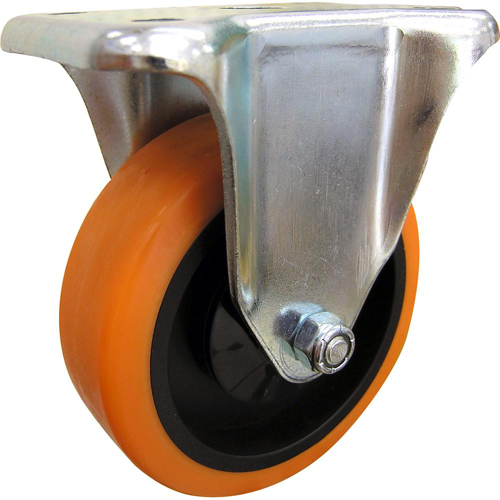 4 in. Orange TPU Rigid Caster with 300 lb. Load Rating