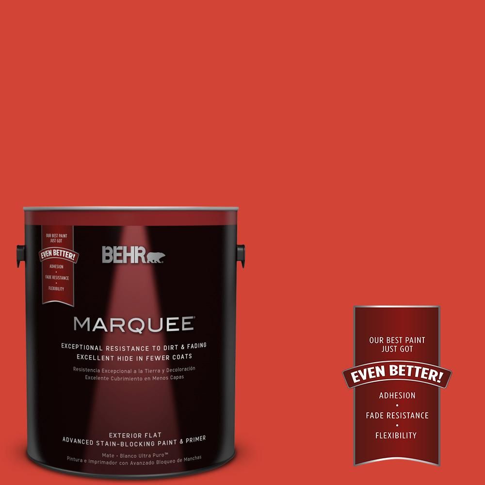 BEHR MARQUEE 1-gal. #180B-7 Chili Pepper Flat Exterior Paint