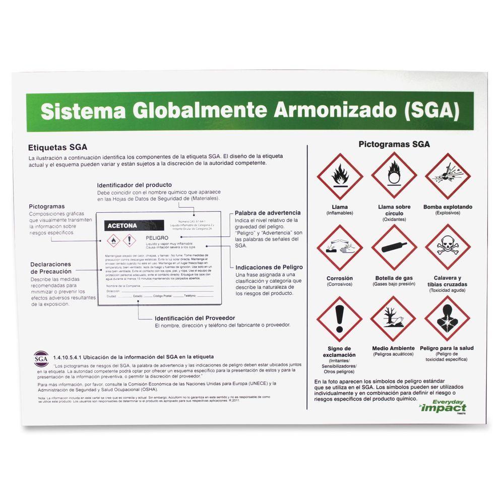 GHS Label Guideline Spanish Poster