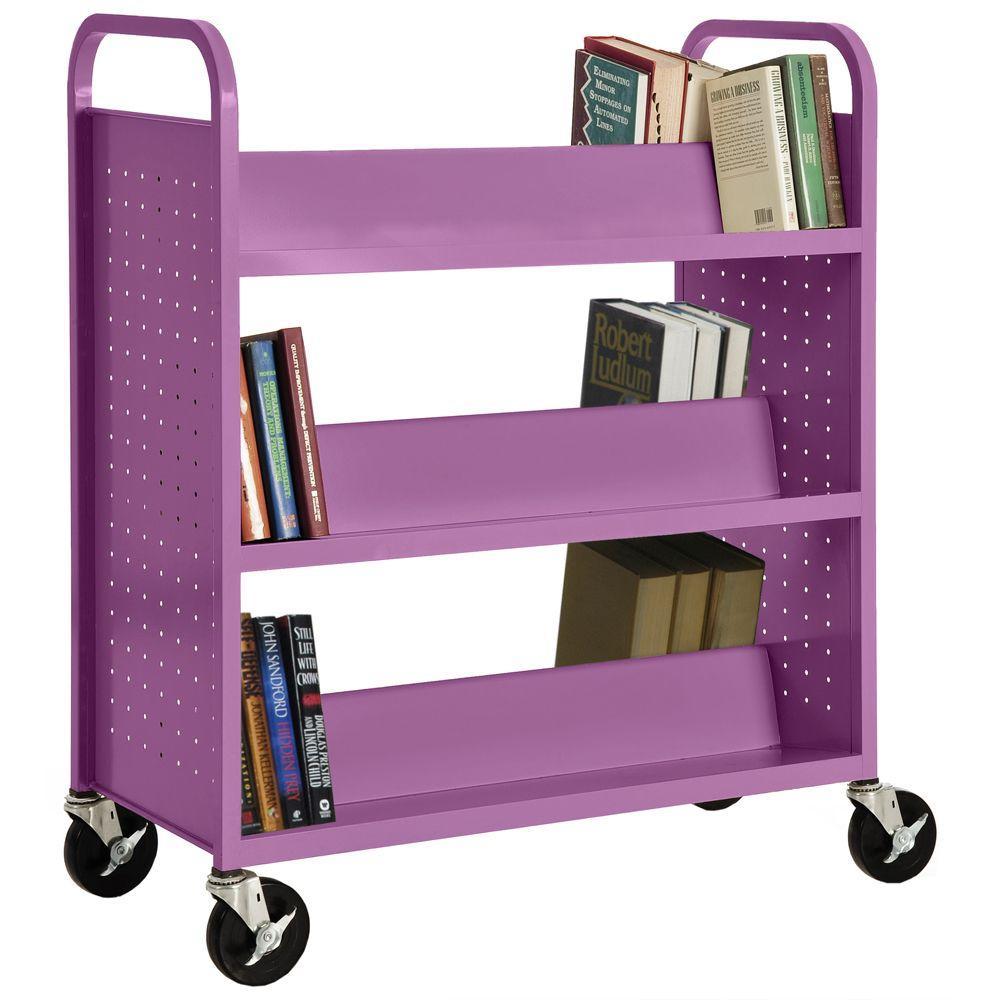 Sandusky Grape Juice Mobile Steel Bookcase