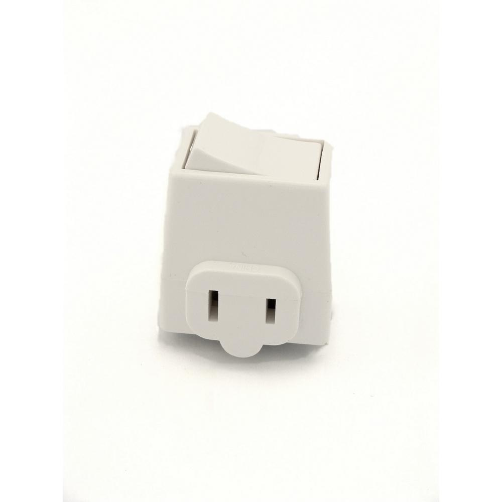 13 Amp Plug-In Switch Tap with On/Off Switch, White