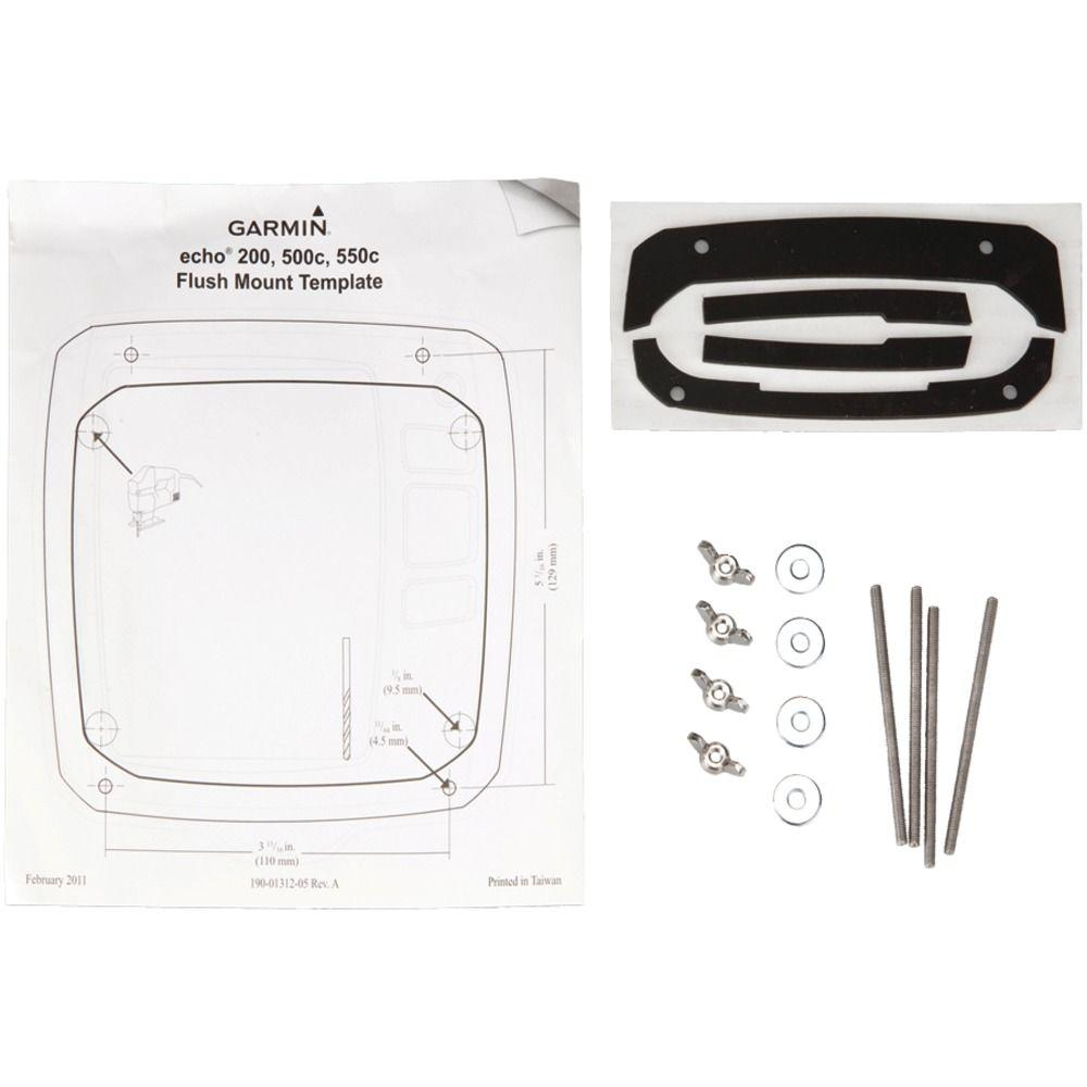 Garmin Flush Mount Kit for Echo 200, 500C and 550C Fish Finders