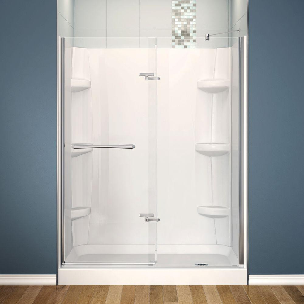 MAAX Reveal 30 in. x 60 in. x 76-1/2 in. Alcove Shower Stall in ...