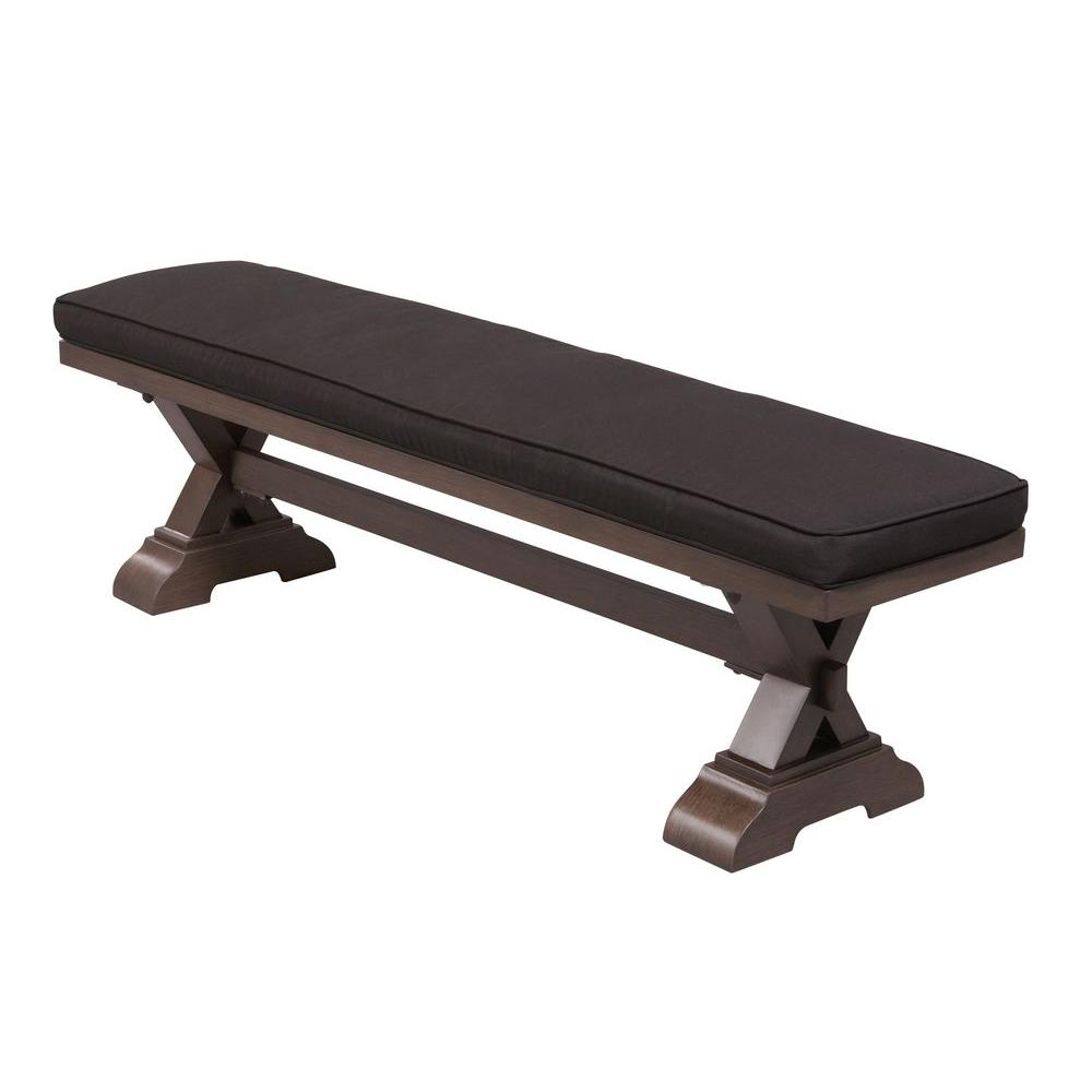 Thomasville Richwood Patio Bench with Black Cushion-DISCONTINUED