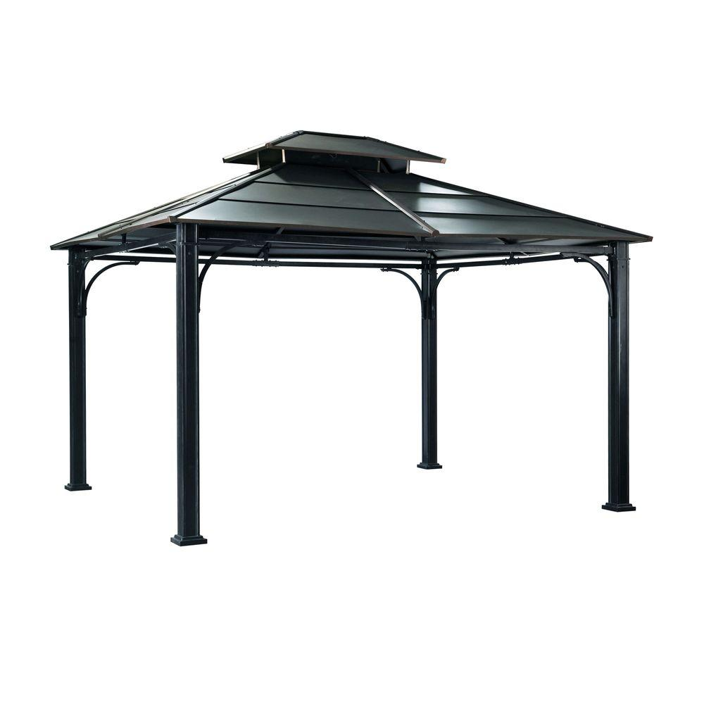 Sunjoy Wonderland 12 Ft X 10 Black Steel Gazebo