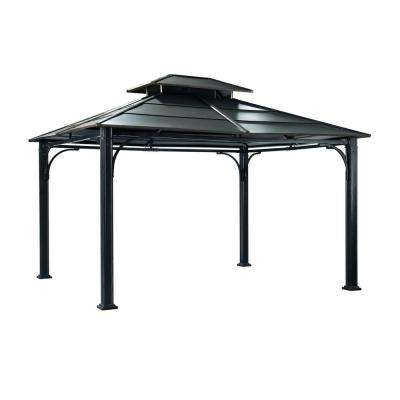 Wonderland 12 ft. x 10 ft. Black Steel Gazebo