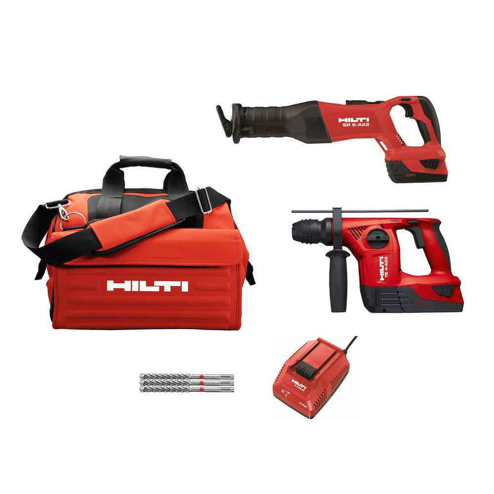 TE 4A and SR 6A 22-Volt Lithium-Ion 2 Tool Cordless Brushless