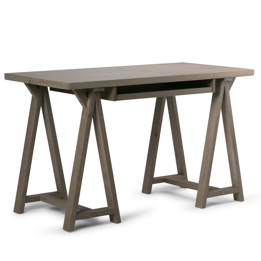 Strange Simpli Home Sawhorse Solid Wood Modern Industrial 50 In Download Free Architecture Designs Sospemadebymaigaardcom