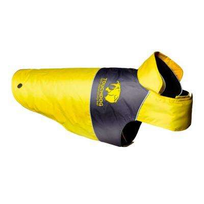 X-Large Yellow Lightening-Shield Waterproof 2-in-1 Convertible Dog Jacket with Blackshark Technology